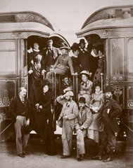 Wealthy rail passengers  August 1876.