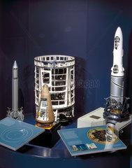 British rocket display  Space Gallery  Science Museum  London  2000.
