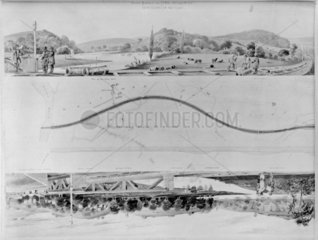 'View North of the Line'  1848.