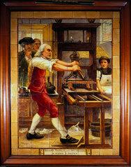 Benjamin Franklin  American theorist on static electricity  18th century.