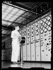 Engineer in Battersea Power Station  London  17 January 1934.