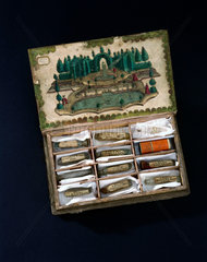 Book-shaped essence box  late 18th century.