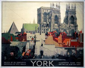 'York'  LNER poster  1923-1947.