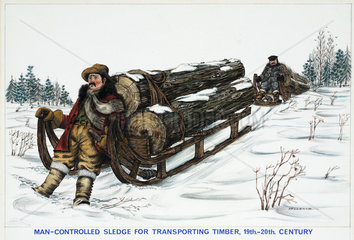 'Man-controlled Sledge for Transporting Timber  19th-20th Century'  1967.