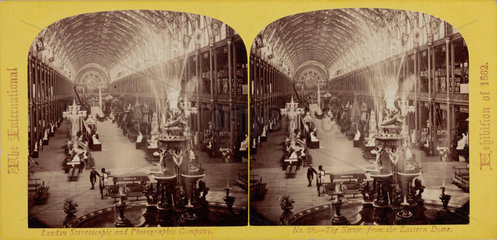 'The Nave  from the Eastern Dome  The International Exhibition of 1862'  London.