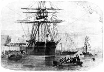 Queen Victoria visiting HMS 'Resolute'  Isle of Wight  15 December 1856.
