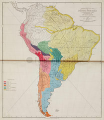 'Ethnographical Map of South America  in the Earliest Times'  1843.