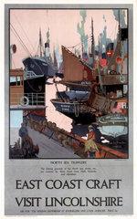 'East Coast Craft - Visit Lincolnshire'  LNER poster  1923-1947.