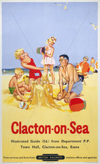 'Clacton-on-Sea'  BR poster  1958.
