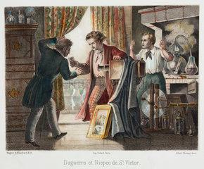 'Daguerre and Niepce de Saint Victor'  c 1851.