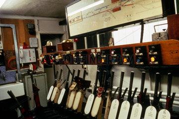 Signal box at Waterloo Station  Waterloo an