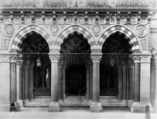 Entrance to the Midland Grand Hotel at St Pancras Station  London  1866-1870.