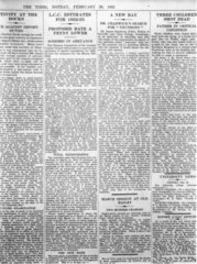 Interview with Sir James Chadwick in 'The Times'  29 February 1932.