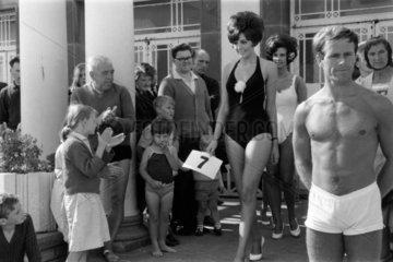 Beauty contest  Margate  Kent  1967.