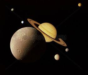 Saturn system montage  1980.