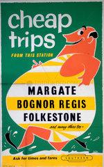 'Cheap Trips' BR (SR) poster  c 1960s.