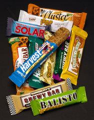 Selection of muesli bars  1990s.