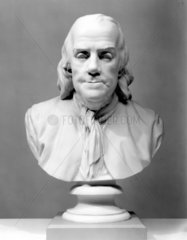 Benjamin Franklin  American theorist on static electricity  c 1780.