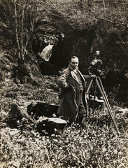 Claude Friese-Greene with Vinten cine camera  c 1925.