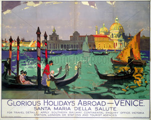 'Glorious Holidays Abroad - Venice'  SR poster  1928.