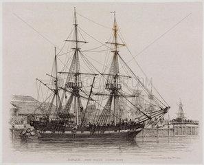 'Barque; Free Trader  London Docks'  1829.