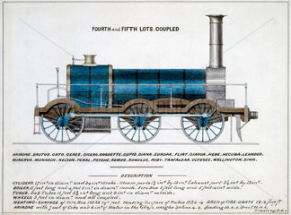 'Fourth and Fifth Lots Coupled'  steam locomotive  1857.