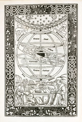 Frontispiece from Ptolemy's 'Almagest'  1496.
