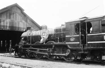 Steam locomotive at Lower Parel  India  1940.