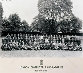 Ferranti group photograph  Regent's Park  London  1956.
