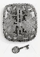 Steel lock  18th century.