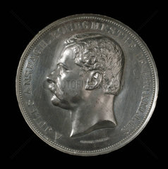 Medal commemorating a health conference  Brussels  late 19th century.