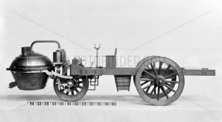 Cugnot's steam traction engine of 1770.