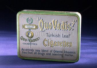 'Quo Vadis' cigarette tin  1920-1940.