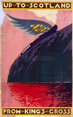 'Up to Scotland from King's Cross'  LNER poster  1923-1947.