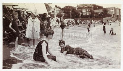 Sea bathing  Broadstairs  Kent  c 1913.