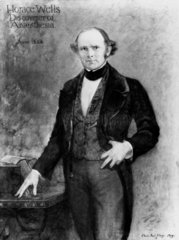 Horace Wells  pioneer of anaesthesia  1844.
