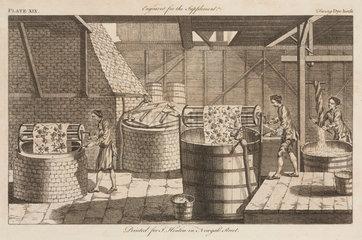 'Dye house'  1754.