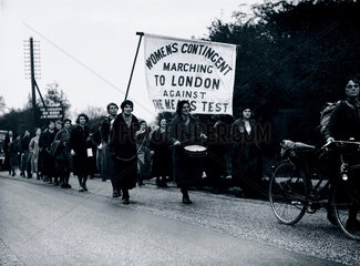 Women marchers protesting against the new means test  4 November 1936.