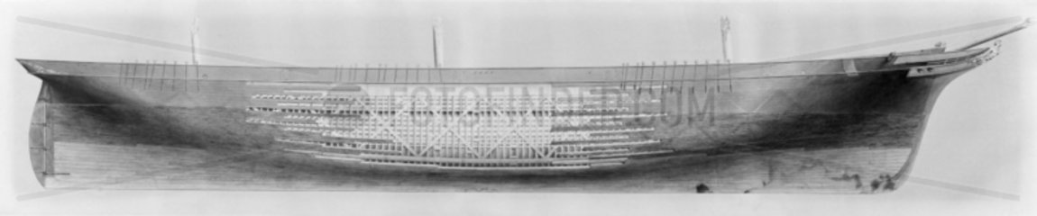 Starboard elevation of Ship 1866