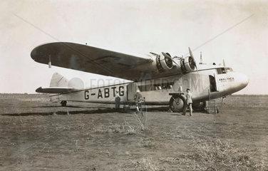 G-ABTG 'Amalthea' at Moshi  1931-1938.