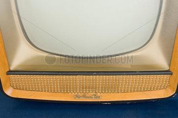 Detail of an HMV 1892 television receiver  c 1959.