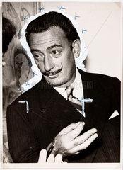 Salvador Dali in London  2 December  1951.