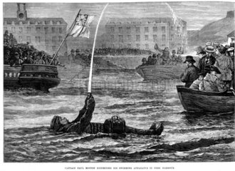 Captain Paul Boyton's swimming apparatus  1874.