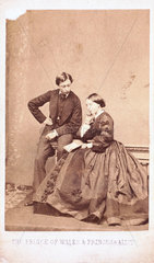 The Prince of Wales and Princess Alice  1876-1877.