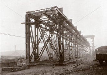 Constructing the Guali River Bridge  Colombia  South America  1906.