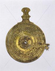 Brass prognosticator  probably French  1538.