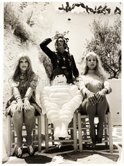 Salvador Dali on the set of 'Some Girls Do'  Spain  1968.