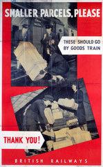 'Smaller Parcels  Please'  BR poster  1948-1965.