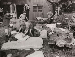 Jewish displaced persons at Poppendorf Camp  Austria  1947.