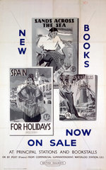 'New Books now on Sale'  BR(SR) poster  c 1950s.